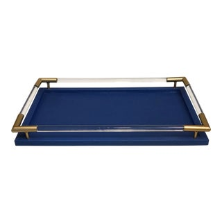 Blue Lizard Print Tray For Sale
