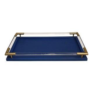 Blue Lizard Print Tray For Sale