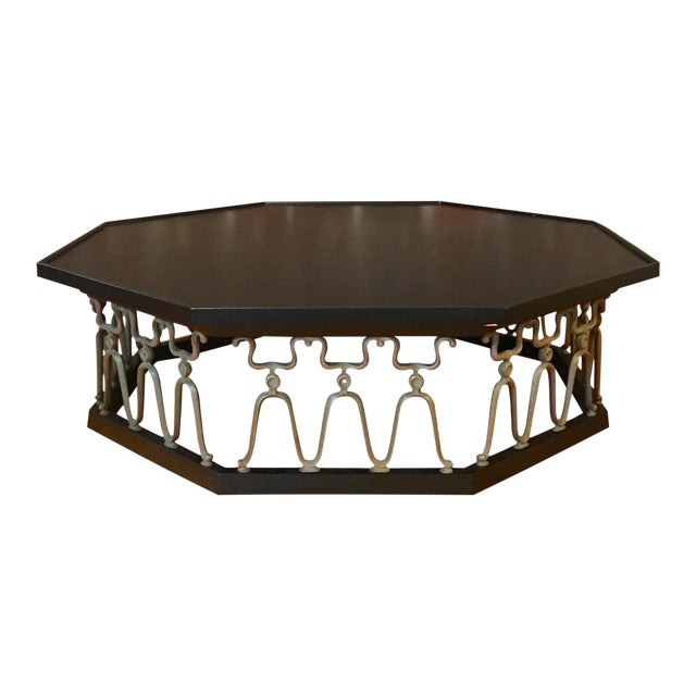 1960s Mid-Century Modern John Van Koert for Drexel Ebonized Casa Del Sol Coffee Table For Sale