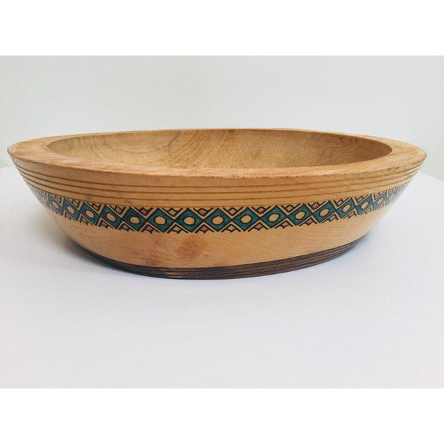 Massive Large Round African Primitive Hand Hewn Wood Dough Bowl For Sale - Image 10 of 13