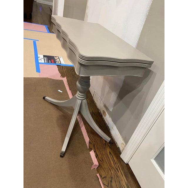 Vintage Traditional Flip Top Pedestal Table For Sale - Image 11 of 13
