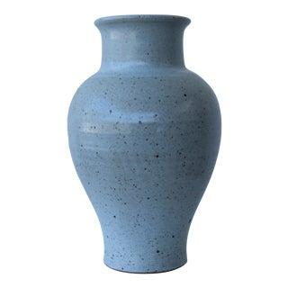 1983 Studio Pottery Stoneware Vase For Sale