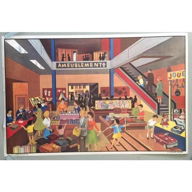French Vintage Department Store Poster - Image 2 of 6