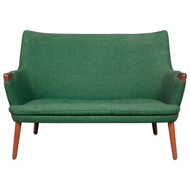 Hans Wegner Ap 20 Sofa, Original Fabric, Denmark, 1950s-1960s For Sale - Image 6 of 6