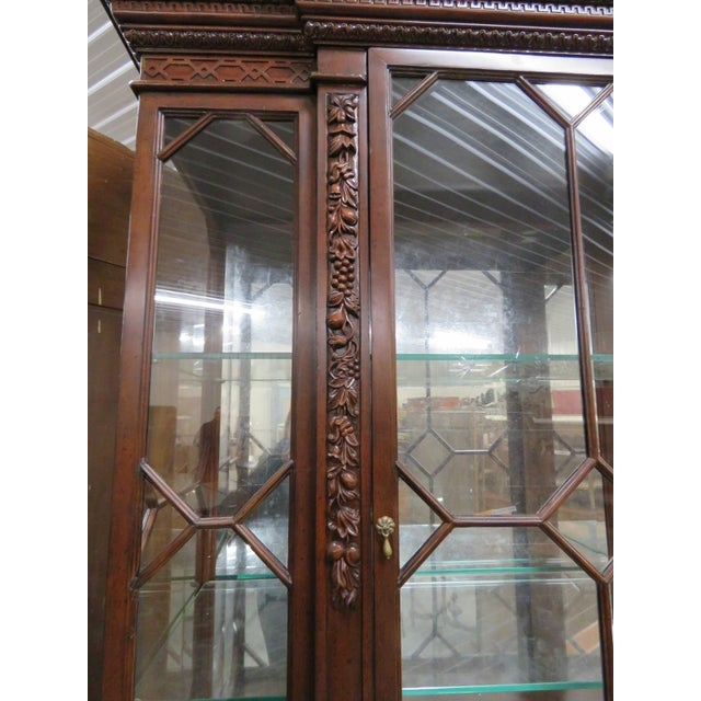 Georgian Style Carved China Cabinet For Sale - Image 5 of 6