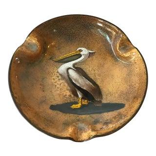1940s Enamel Pelican Ashtray For Sale