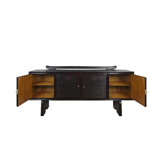 1940s 1940s Sideboard by Paolo Buffa, Ebonized Oak, Japanese Style - Italy For Sale - Image 5 of 9