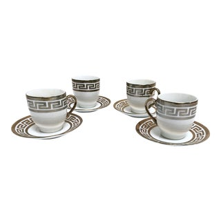 Joseph Sedgh Silver Greek Key Espresso Set - 9 Pieces