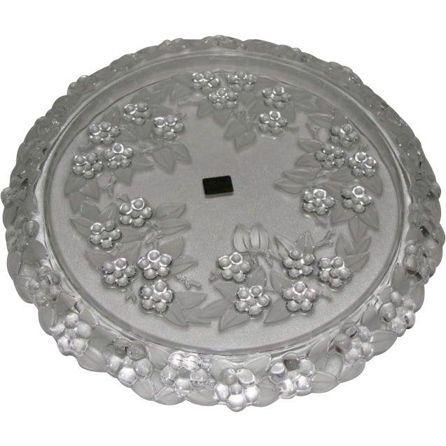 Mikasa Carmen Walther Glass Crystal Cake Plate | Chairish