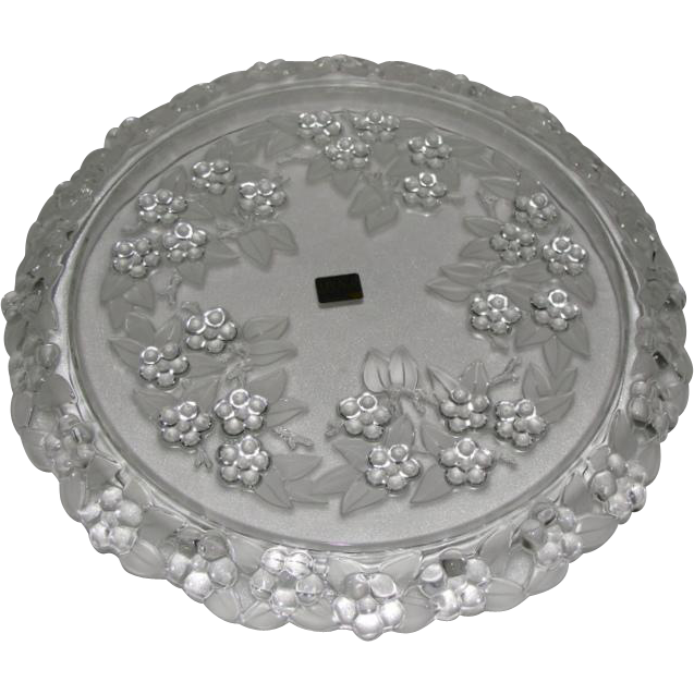 Mikasa Carmen Walther Glass Crystal Cake Plate  sc 1 st  Chairish : crystal cake plate - Pezcame.Com