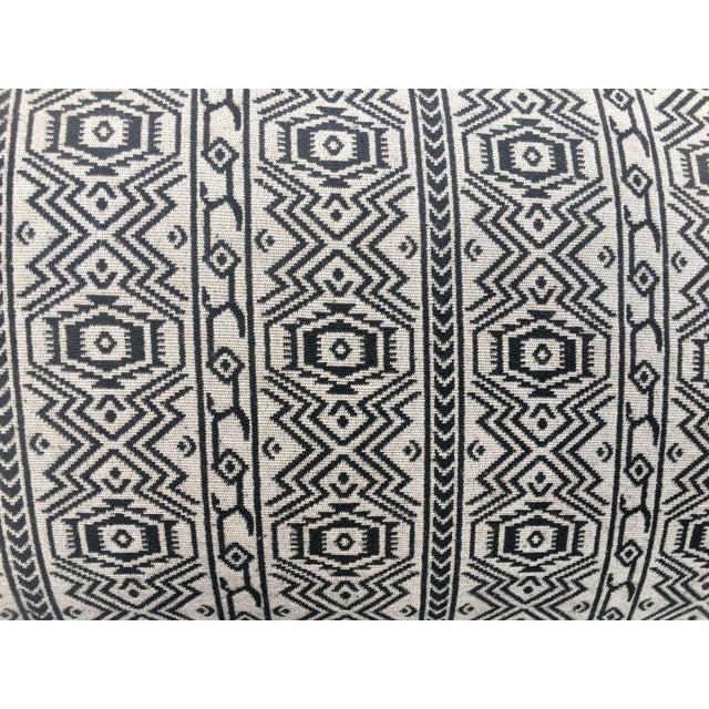 Black & White Tribal Textile Pillow - Image 2 of 4