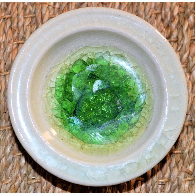 Ceramic 1942 Art Deco Waylande Gregory Fused Glass Ceramic Bowl For Sale - Image 7 of 11