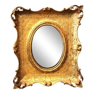 Late 19th Century Scale Gilt Mirror For Sale