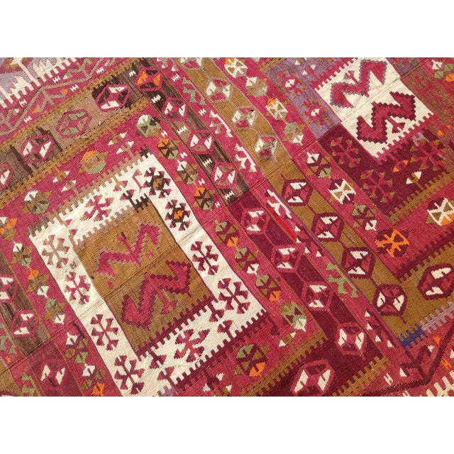 "Vintage Turkish Kilim Runner - 4'8"" x 11'4"" For Sale - Image 4 of 6"