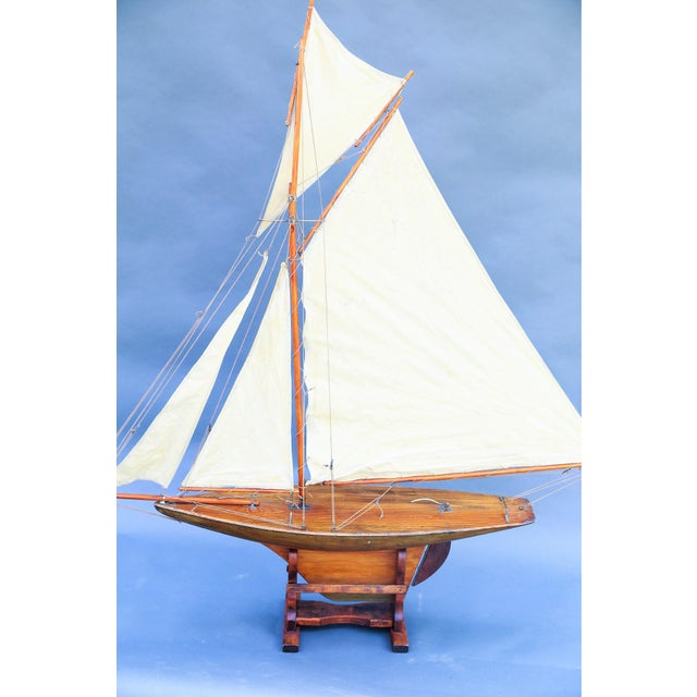 5' Antique English Pond Yacht Cutter For Sale - Image 4 of 9
