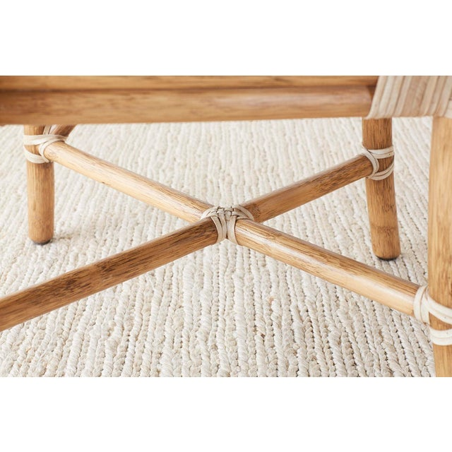 Pair of McGuire Organic Modern Bamboo Rattan Armchairs For Sale - Image 11 of 13