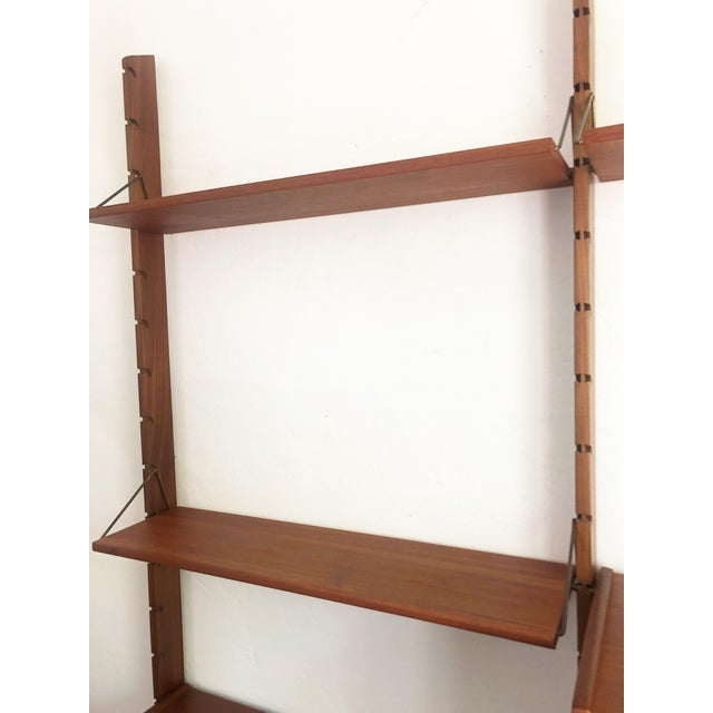 Mid Century Teak Free Standing Wall Unit by Blindheim Møbelfabrikk For Sale In San Francisco - Image 6 of 13