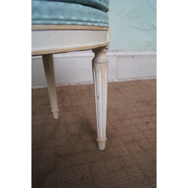 Vintage French Louis XVI Style Swivel Vanity Bench - Image 7 of 10