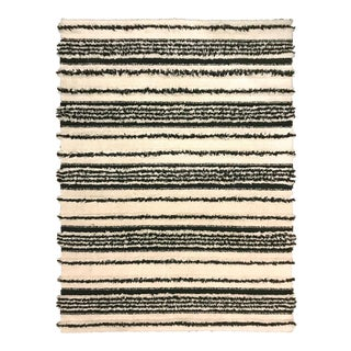 Mid-Century Striped Rya Rug