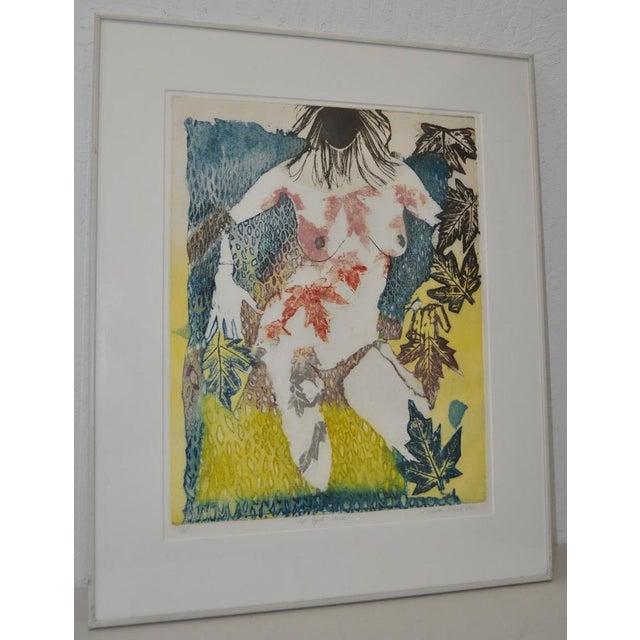 "Sasha Wasko ""Life Cycle - Fall"" Etching w/ Aquatint c.1986. Fine vintage etching with aquatint by listed artist Shasha..."