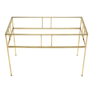 Modern Solid Brass Rectangular Side Table For Sale