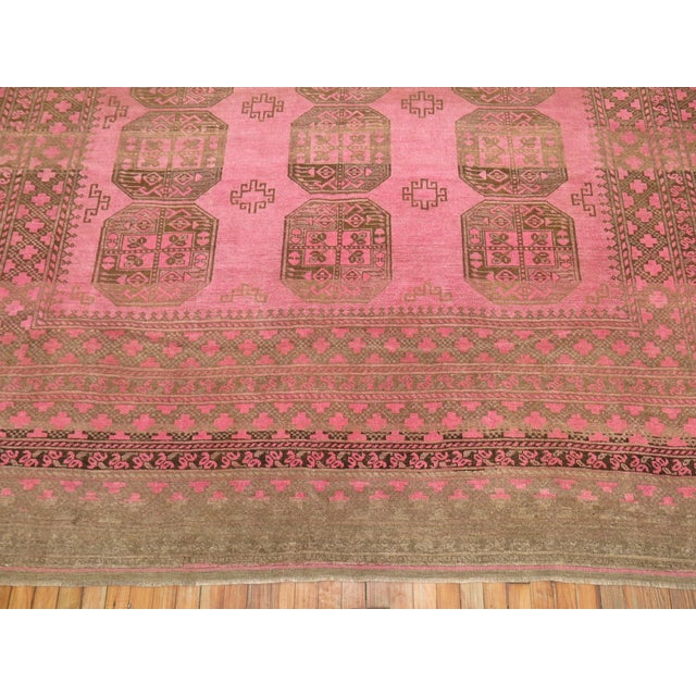 Mid 20th Century Wild Pink Vintage Tribal Rug, 10'10'' X 13'5'' For Sale - Image 5 of 11