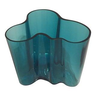 Alvar Aalto Petrol Blue Vase