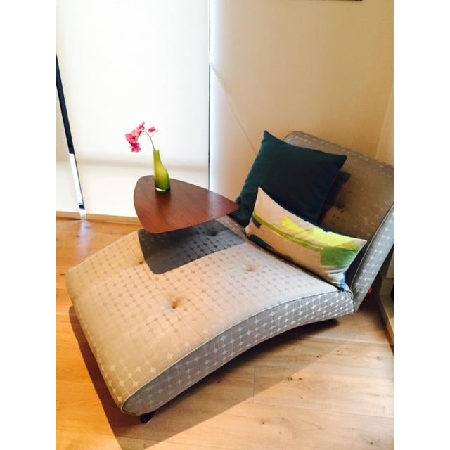 Modern Modern Upholstered Chaise Lounge For Sale - Image 3 of 8
