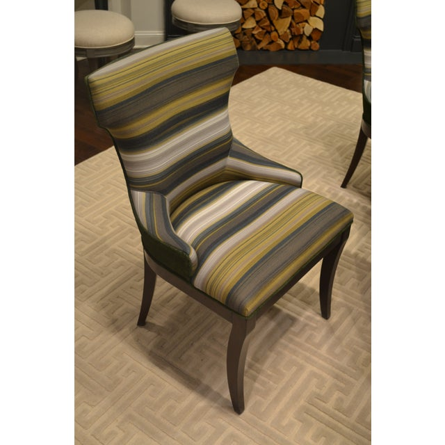 Woodbridge Furniture Addison Club Dining Chairs - Pair For Sale - Image 4 of 4