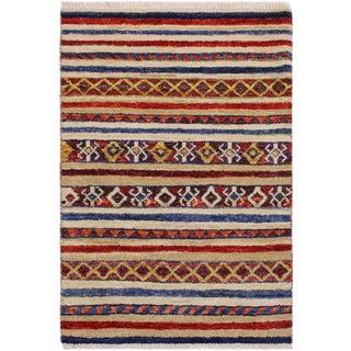 Tribal Khurgeen Steinber Wool Rug - 2'1 X 2'11 For Sale