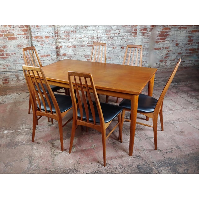 Danish Mid-Century Teak Dining Table W/6 Chairs by Koefoeds Hornslet For Sale - Image 12 of 12