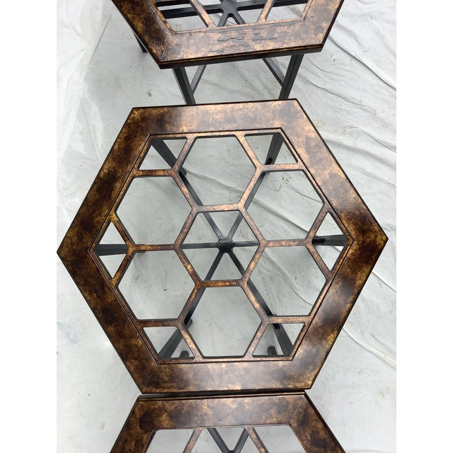 1970s Widdicomb Honeycomb Tables, Set of 3 For Sale - Image 5 of 13