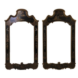 Chinoiserie Style Wall Mirrors - Set of 2 For Sale