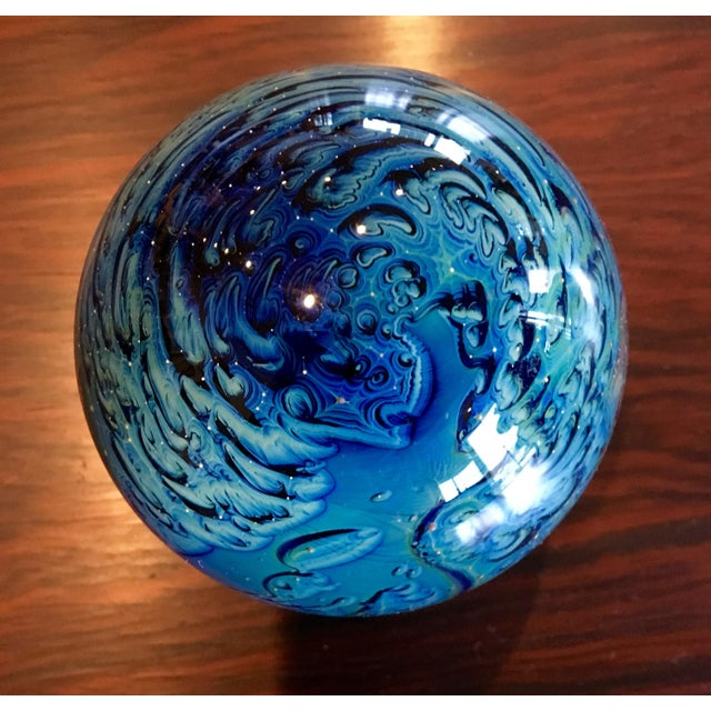 Josh Simpson Glass Planet Paperweight | Chairish