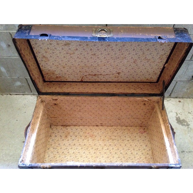 Antique Wells Fargo Stage Coach Trunk For Sale - Image 5 of 9