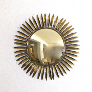 1960s French Brass Soleil or Sunburst Convex Wall Mirror Preview