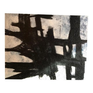 Abstract Black and White Painting by Antonino Buzzetta For Sale