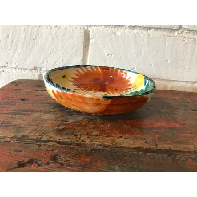 Vintage Mexican Pottery Decorative Bowl For Sale - Image 5 of 11