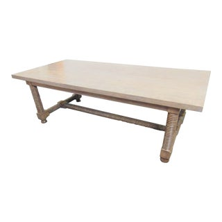 Country Jenny Lind Style White Oak Farmhouse Dining Table For Sale