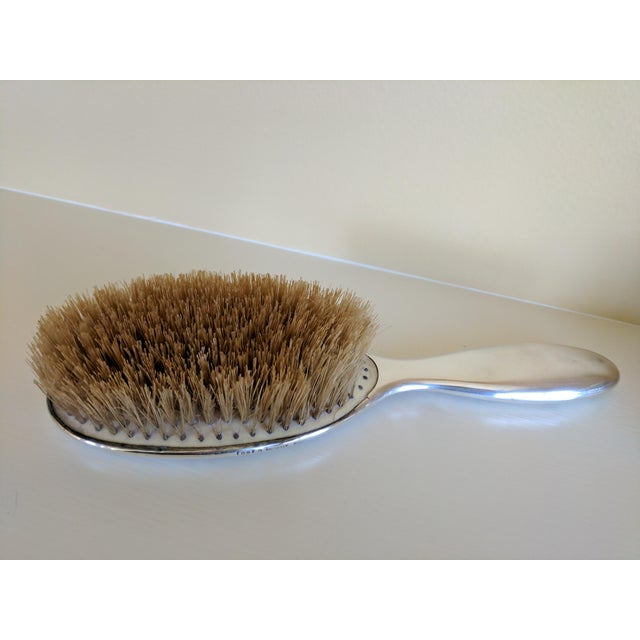 Silver Gorham Sterling Silver Monogrammed Hairbrush For Sale - Image 8 of 8