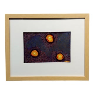 Conrad Buff Three Balls of Fire Modernist Oil Painting For Sale