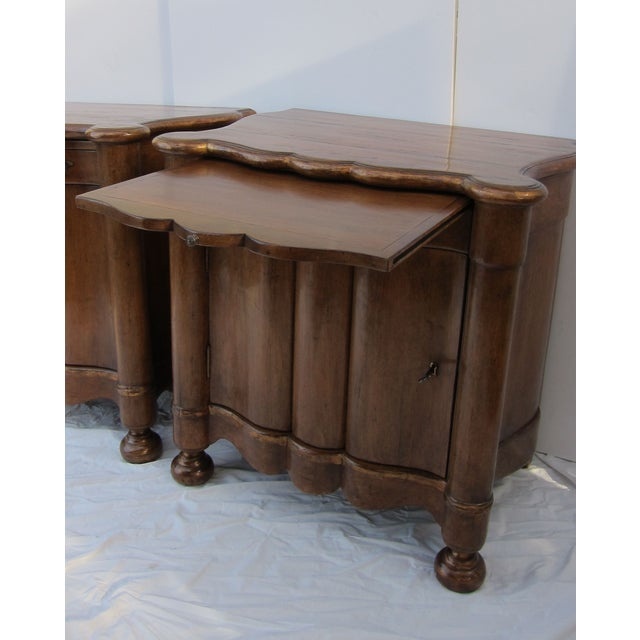 Italian Style Wood End Tables - A Pair - Image 3 of 7