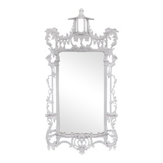 White Chippendale-Style Mirror