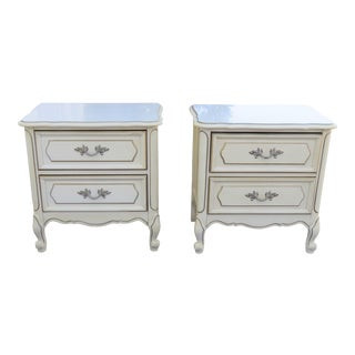 French Painted Pair Nightstands Side Tables by Henry Link 2371 For Sale