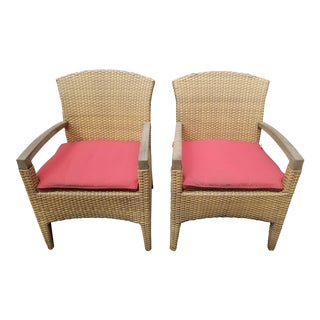 Gloster Plantation Outdoor Dining Armchairs - a Pair For Sale