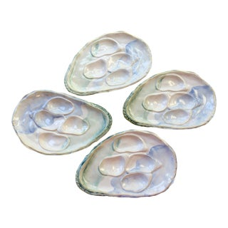Oyster Plates - Set of 4 For Sale