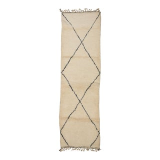 Moroccan Berber Runner- 3′3″ × 11′3″ For Sale