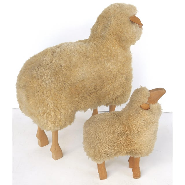 Children's Lifesize Sheep & Lamb Sculptures by Hanns-Peter Krafft- Set of 2 For Sale - Image 3 of 10