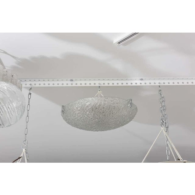 Flush-Mount Chandelier, Style of Kalmar For Sale In West Palm - Image 6 of 8