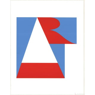 "Robert Indiana ""Art"" 1997 Serigraph"